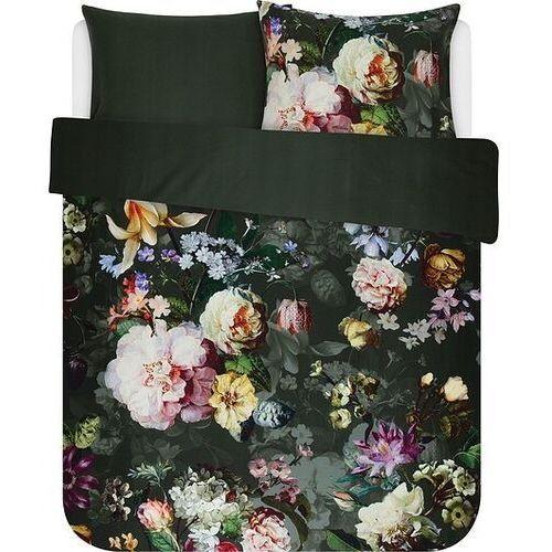 Pościel Fleur ciemnozielona 200 x 220 cm z 2 poszewkami na poduszki 60 x 70 cm