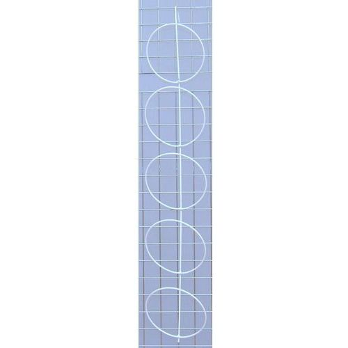 Panel pojedynczy na czapki 5 elementów biały - na kratę, kolor biały