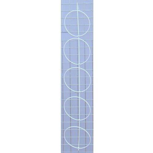 Panel pojedynczy na czapki 5 elementów biały - na kratę