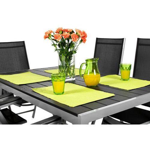 OKAZJA - Stół ogrodowy aluminiowy MODENA - Czarny - czarny