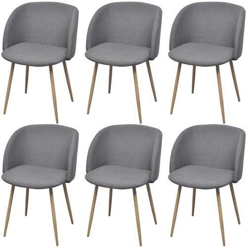 krzesła jadalniane, jasnoszare, 6 szt. marki Vidaxl
