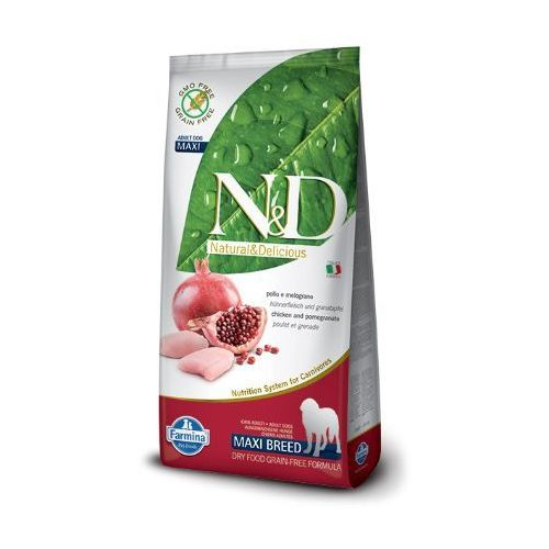 N&D GRAIN FREE ADULT MAXI CHICKEN&POMEGRANATE - FARMINA