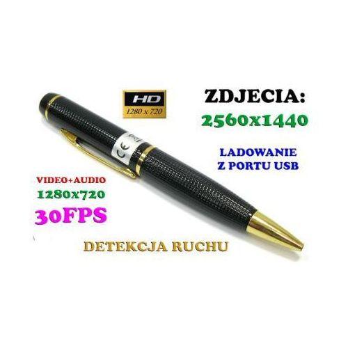 Szpiegowski długopis hd, nagrywający obraz i dźwięk + detekcja ruchu + ap. foto... marki Spy elektronics ltd.
