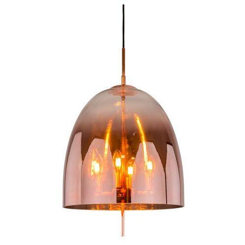 Italux Lampa wisząca alan md-oyd-10310b-sp4 copper szklana oprawa zwieszana miedź (5900644436980)