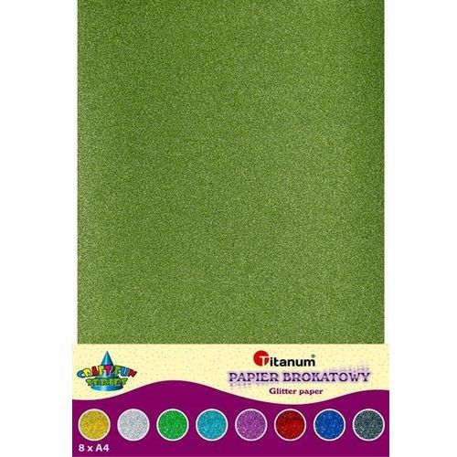 Titanum Papier brokatowy a4 brokat dwustronny 8 craft-fun (5907437676349)