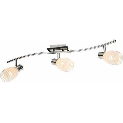 Listwa lampa oprawa sufitowa Globo Toay 2x40W E14 biały/brązowy/chrom 541010-3, 541010-3