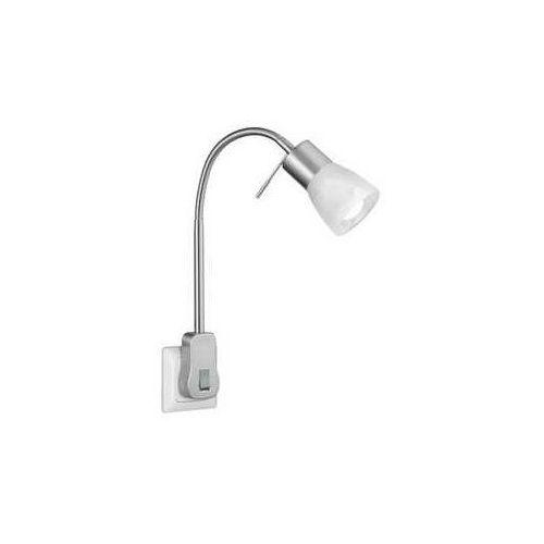 Trio Levisto 891010107 lampa do kontaktu lampka 1x5W E14 nikiel/biały