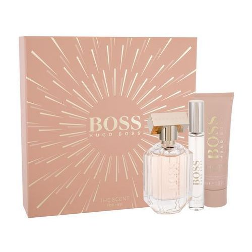 HUGO BOSS Boss The Scent For Her zestaw Edp 50ml 7,4ml Edp + 50ml Balsam dla kobiet (8005610256450)