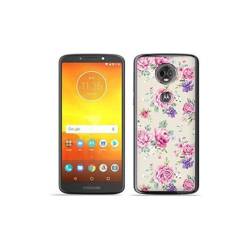 Motorola moto e5 plus - etui na telefon fantastic case - pastelowe różyczki marki Etuo fantastic case