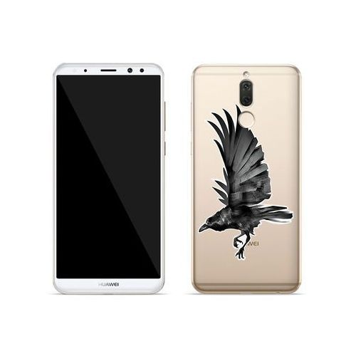 Etuo crystal design Huawei mate 10 lite - etui na telefon crystal design - czarny kruk