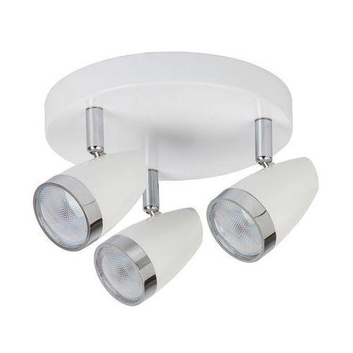 Plafon lampa oprawa sufitowa spot karen 3x4w led biały / chrom 6668 marki Rabalux