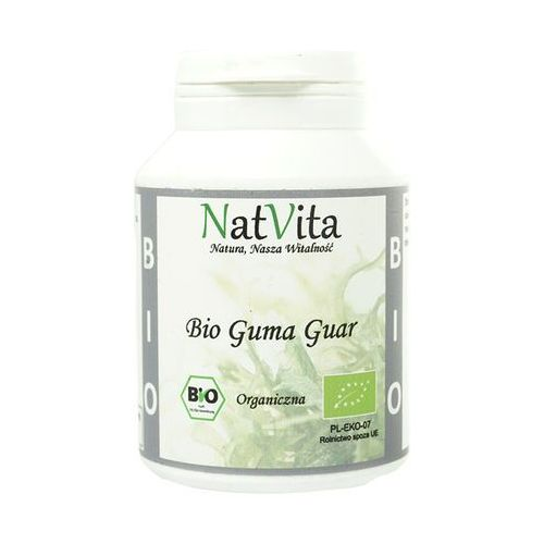 Guma Guar BIO mączka Indie 100g NatVita, 5907377289562