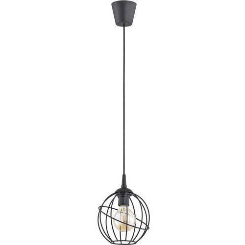 Lampa wisząca druciana zwis loft TK Lighting Orbita 1x60W E27 czarna 1625, kolor Czarny