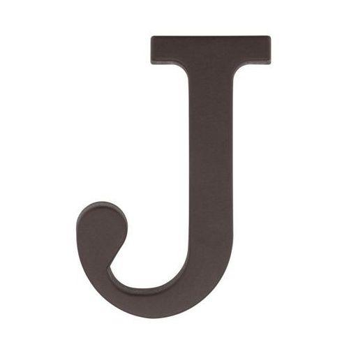 Litera J wys. 9 cm PVC brązowa (5901912823303)