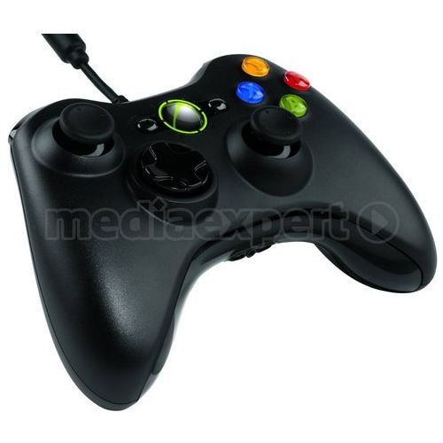 Kontroler xbox 360 czarny marki Microsoft