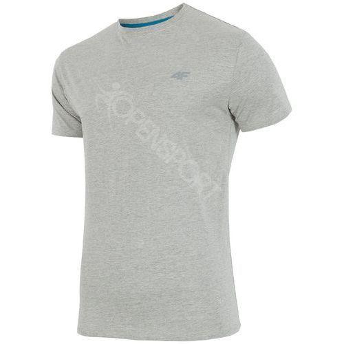 Koszulka męska t-shirt h4z17 tsm001 jasny szary xxxl marki 4f