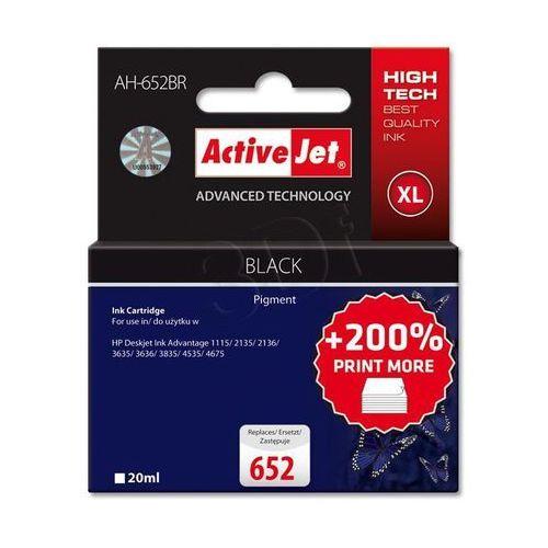 ActiveJet AH-652BR tusz czarny do drukarki HP (zamiennik HP 652 F6V25AE) Premium, +200% drukuj więcej niż OEM- wysyłka dziś do godz.18:30. wysyłamy jak na wczoraj! (5901443102991)