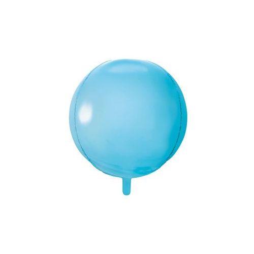 Balon foliowy kula błękitny - 40 cm - 1 szt. marki Party deco