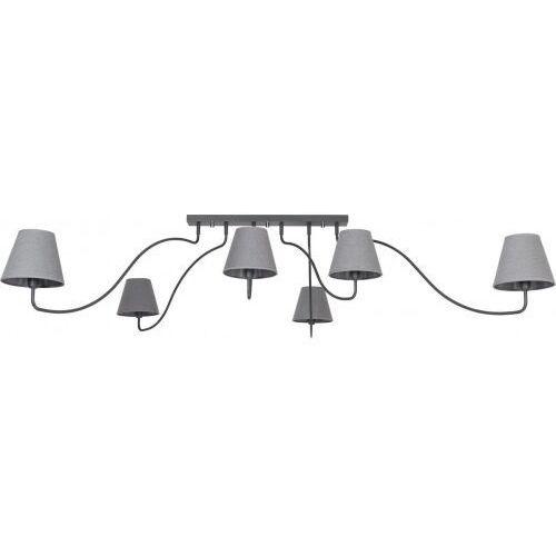 Plafon Nowodvorski Swivel 6553 lampa sufitowa 6x40W E14 grafit/szary, 6553