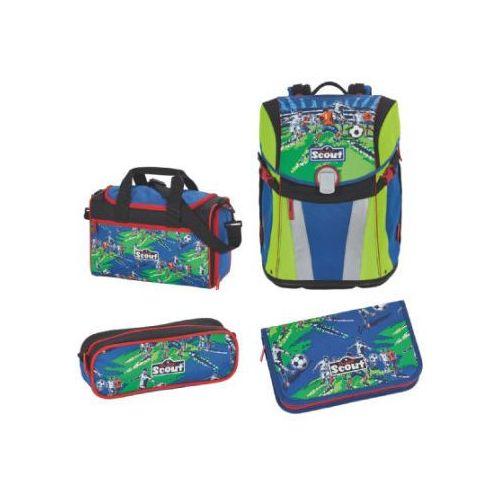 Scout sunny plecak z akcesoriami szkolnymi, 4-częściowy - drużyna piłkarska