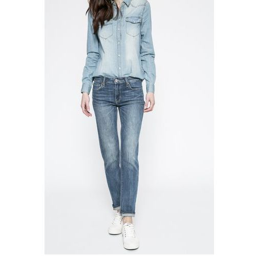 Levi's - Jeansy SLIM NOTORIOUS BLUES, kolor niebieski