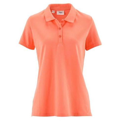 Shirt polo z rękawami 1/2 bonprix łososiowy