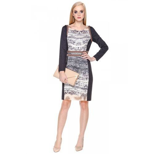 Sukienka ze wzorem w cętki - Potis & Verso