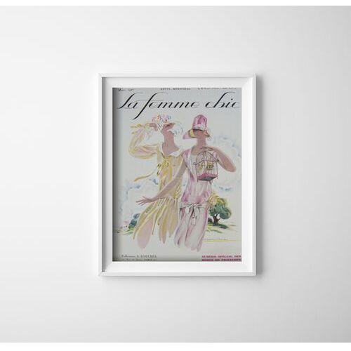 Plakat w stylu vintage Plakat w stylu vintage Ilustracja magazynu La Femme Chic Mars