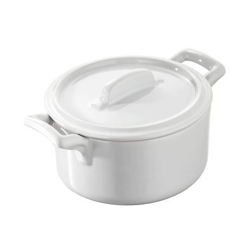 Garnuszek okrągły z pokrywką 0,2 l | REVOL, Belle Cuisine Blanche