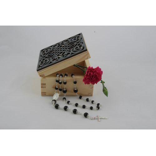 OKAZJA - Różaniecart Luksusowy różaniec święty black dragon