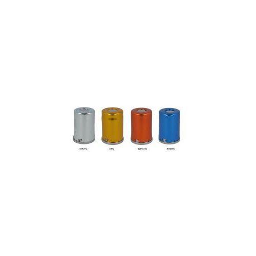 Pojemnik z podajnikiem do waty kolorowy aluminiowy-4 kolory