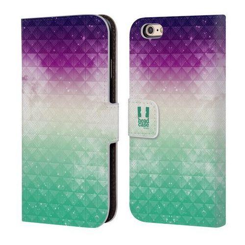 Head case Etui portfel na telefon - studded ombre printed purple sky over green mist