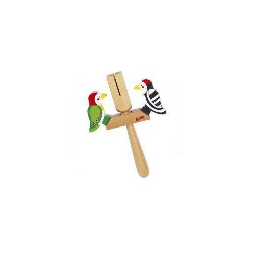 Drewniana kołatka z dzięciołami,  marki Goki