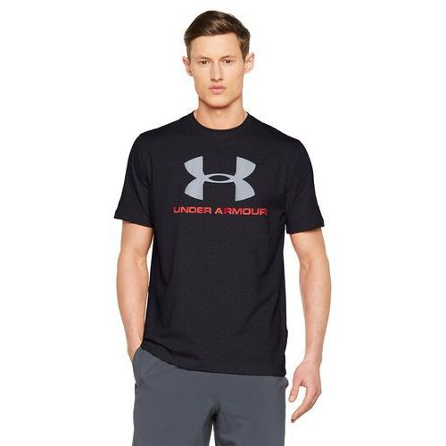 Under Armour SPORTSTYLE LOGO Tshirt z nadrukiem black/red/steel