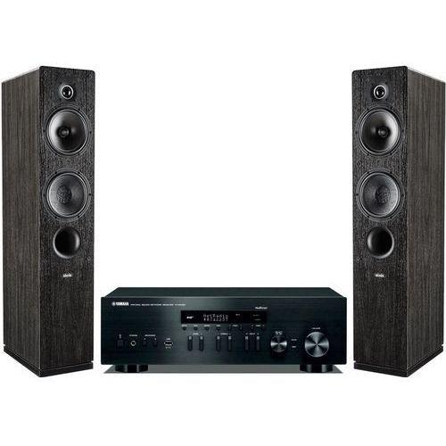 Zestaw stereo YAMAHA R-N402D BL + INDIANA LINE Tesi 561 Czarny (2906842770577)