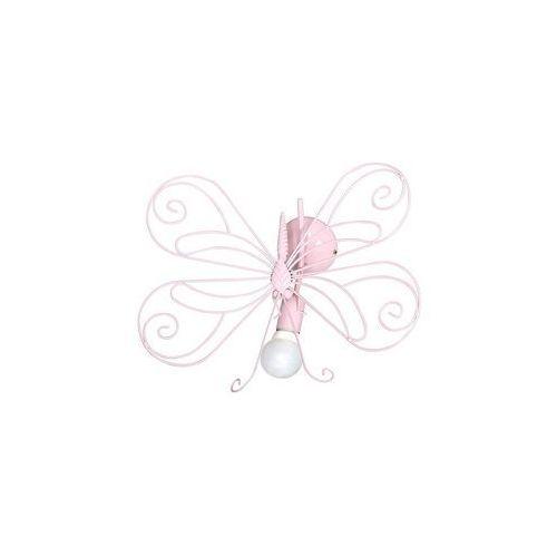 Luminex Lampa wisząca dziecięca motyl 1xe27/60w różowa