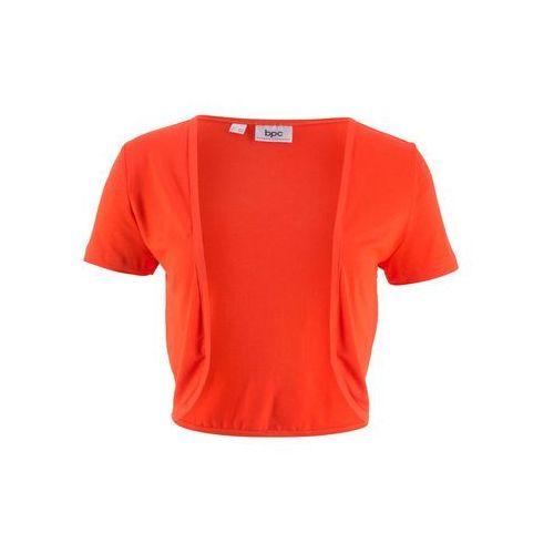 Bonprix Bolerko shirtowe głęboki pomarańczowy