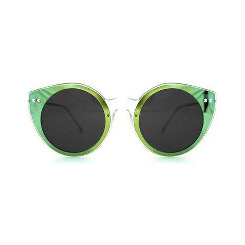 Okulary Słoneczne Spitfire Alpha Select Double Lens Clear/Green Mirror/Black, kolor zielony