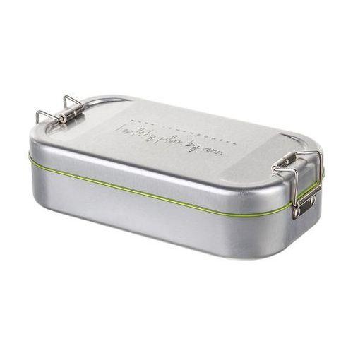 - lunch box stalowy w pokrowcu czarnym marki Healthy plan by ann