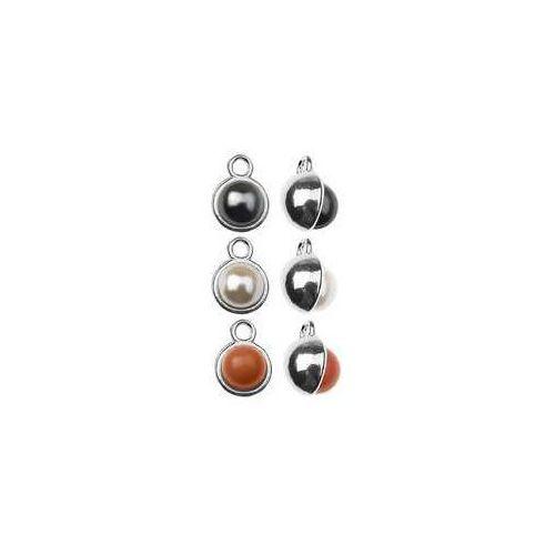 Zawieszka wypukła z perłą swarovski - kolor do wyboru, srebro 925 s-charm 267 marki 925.pl