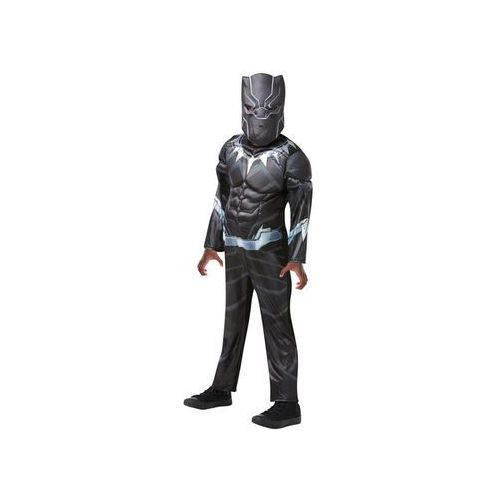 Kostium Czarna Pantera Deluxe dla chłopca - S, kolor czarny