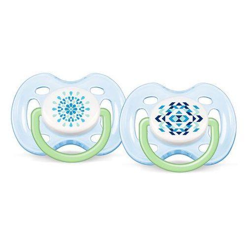 Avent 2x niebieski smoczek sensitive fantazie (silikonowy) 0-6 miesięcy (8710103498414)