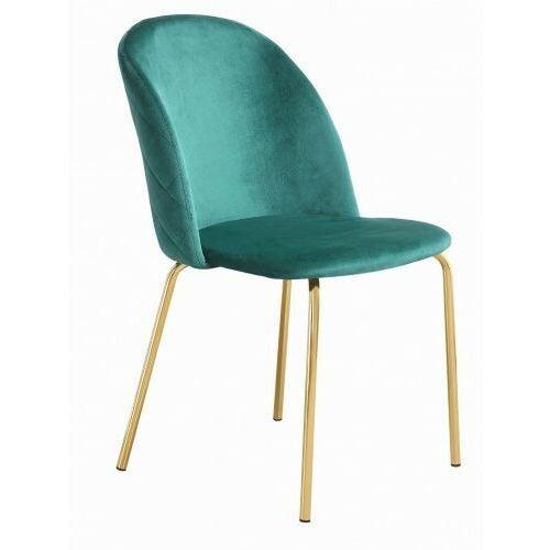 Big meble Krzesło tapicerowane welur zielone big peony dostawa 0zł