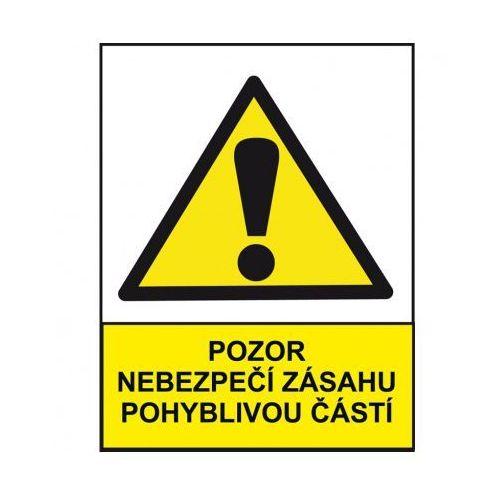 Uwaga, niebezpieczeństwo kontaktu z elementami ruchomymi