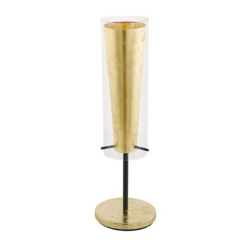 Eglo Lampa pinto gold 97654 stołowa nocna 1x60w e27 czarna/złota (9002759976545)