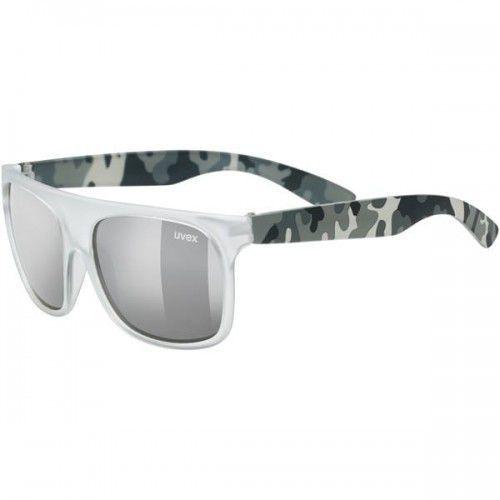 Uvex okulary dziecięce sportstyle 511 (s3) white transparent camo (biały moro) litemirror silver