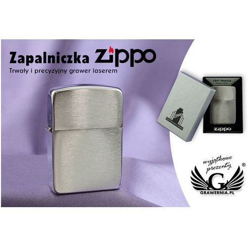 Zippo Zapalniczka  1941 replica brushed chrome