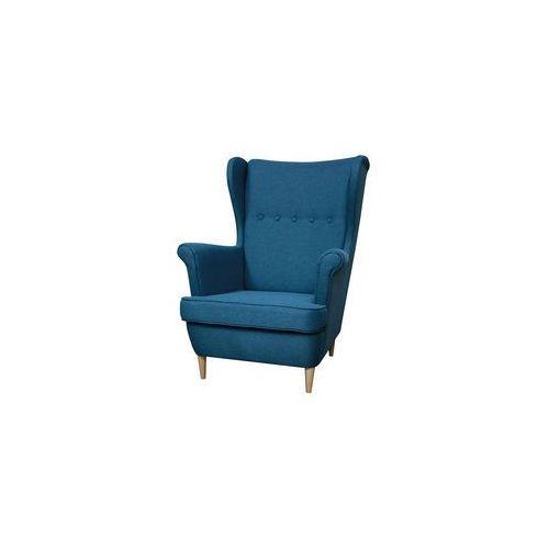 ••• Fotel Uszak Kamea niebieski PROMOCJA – WYBÓR KOLORU NÓŻEK – PROMOCJA – DARMOWA DOSTAWA •••, kolor niebieski