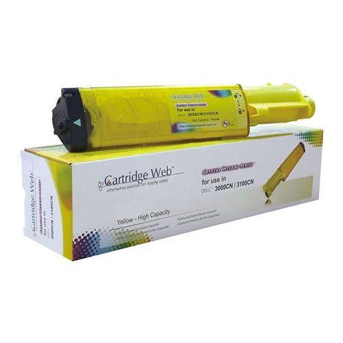 Cartridge web Toner cw-d3000yn yellow do drukarek dell (zamiennik dell 593-10063 / k4973) [4k]