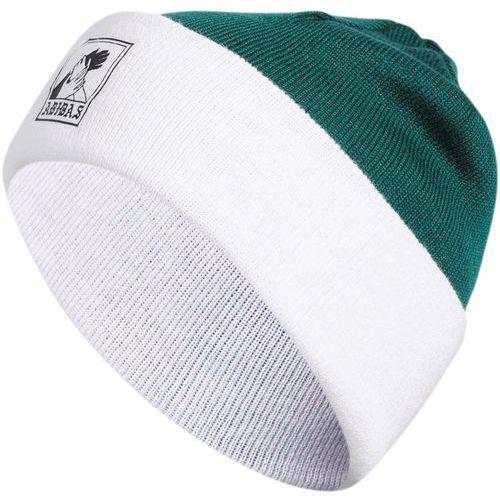 czapka zimowa ADIDAS - Josh Beanie Collegiate Green/White (COLLEGIATE GREEN-WHI), kolor zielony